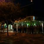 Police Gather on Street Corner