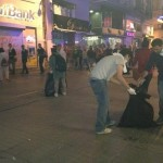 People in Turkey Clean the City