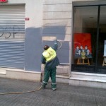 Worker Covers Resign Tayyip Graffiti